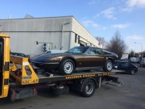 Carroattrezzi a Modena H24. Carro attrezzi Idea Auto con Ferrari Marrone